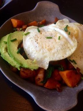 Sweet Potato and Egg Skillet